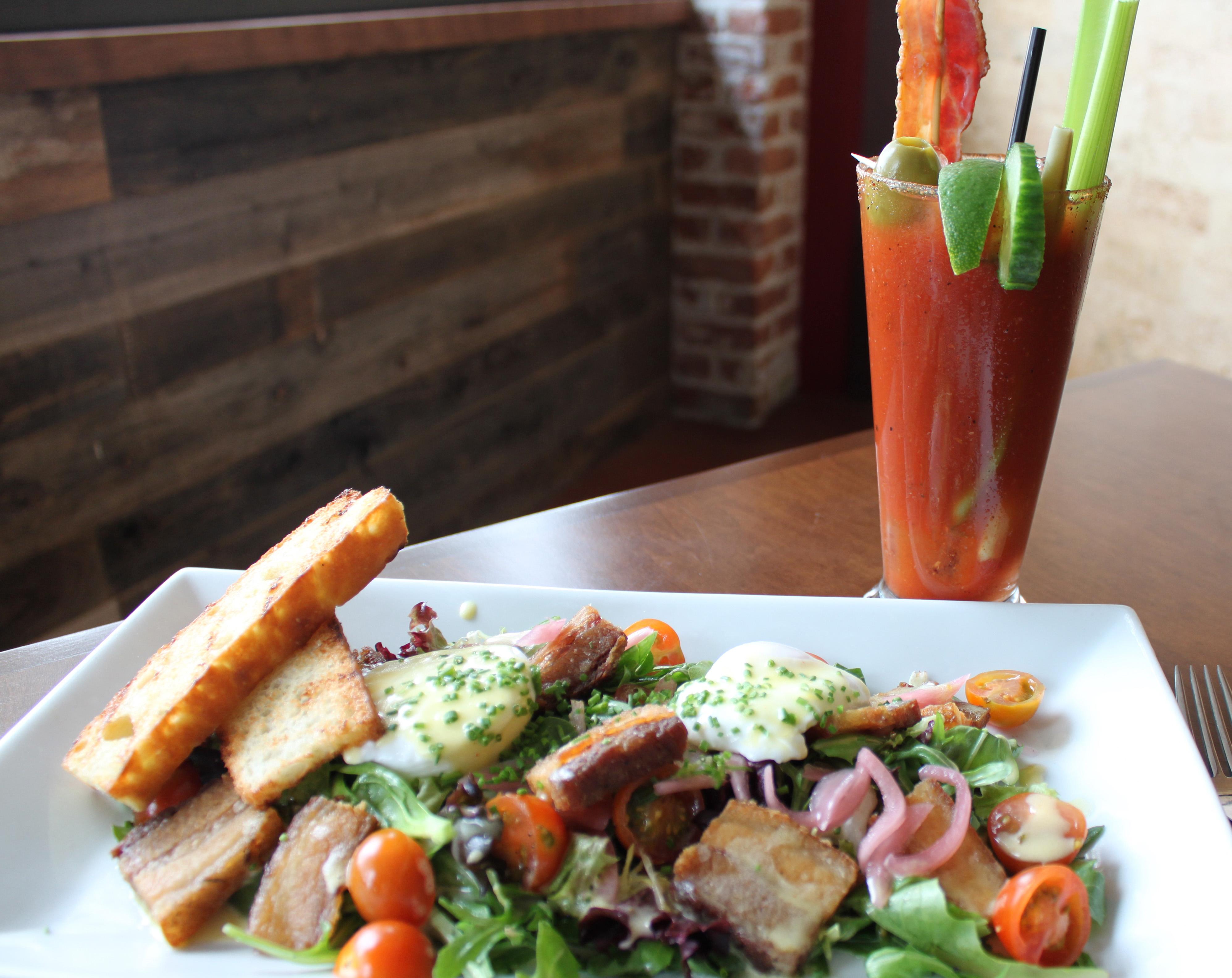 BLT Salad and bacon mary