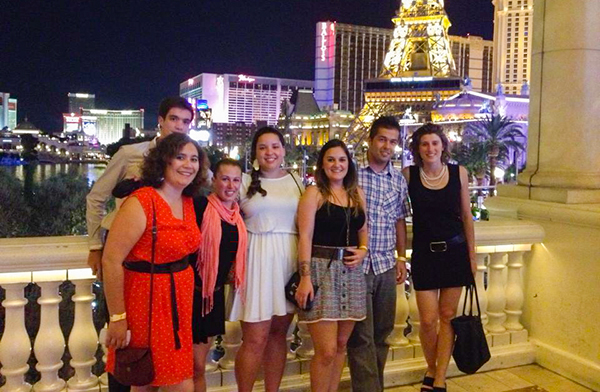 CISL San Francisco students enjoying a weekend in Las Vegas