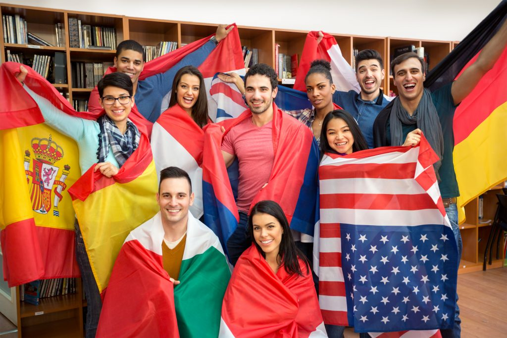 International Students Flags