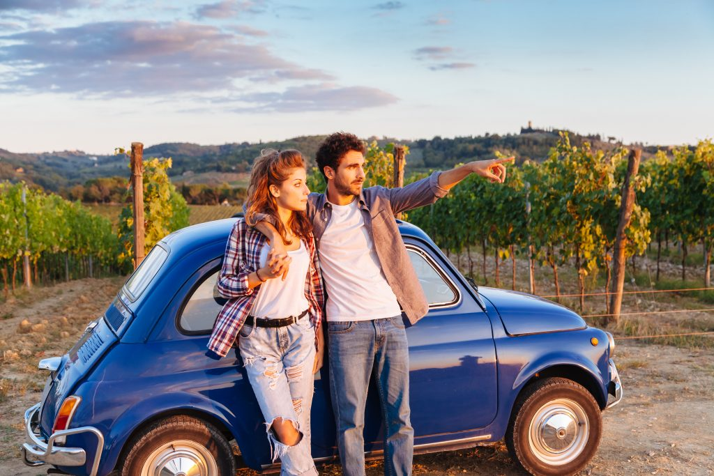 Road Trip Car Wine Vineyard