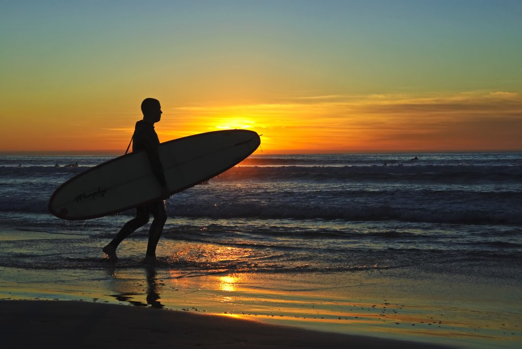 San Diego Beach Sunset Surf