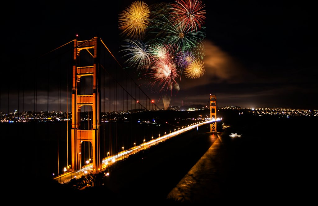 San Francisco Christmas Fireworks Night