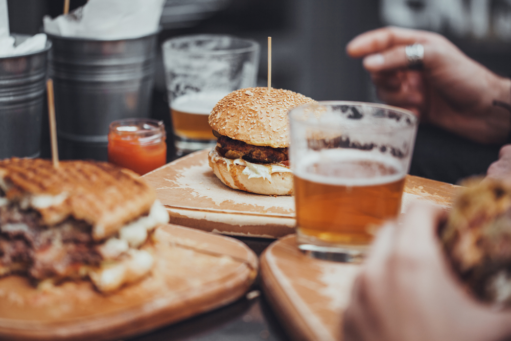 Burger.Cheeseburger.Beer.Food