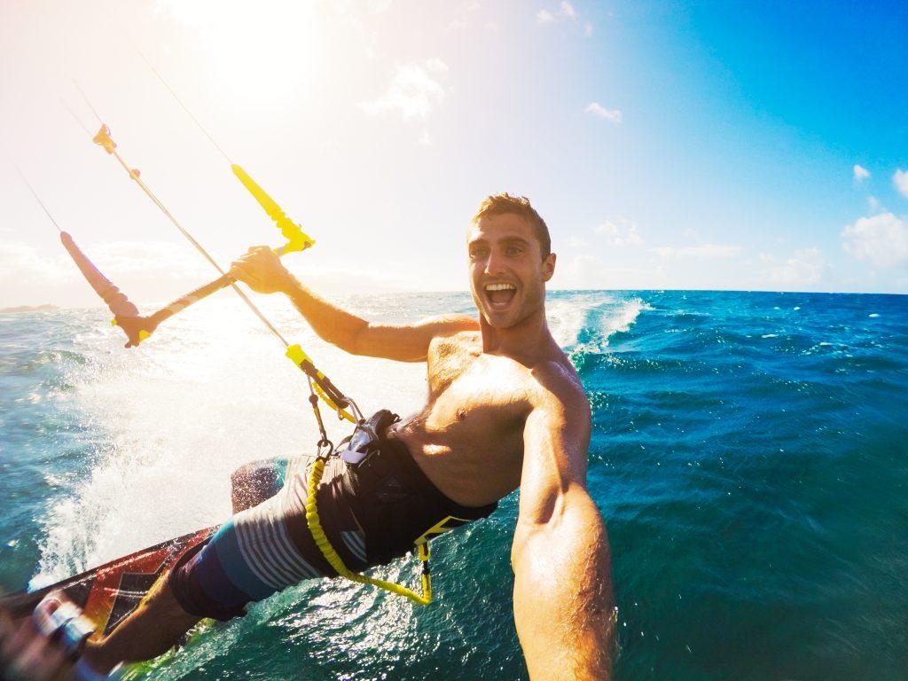 Kitesurf.Fun.Beach.Windsurf.Ocean.Summer